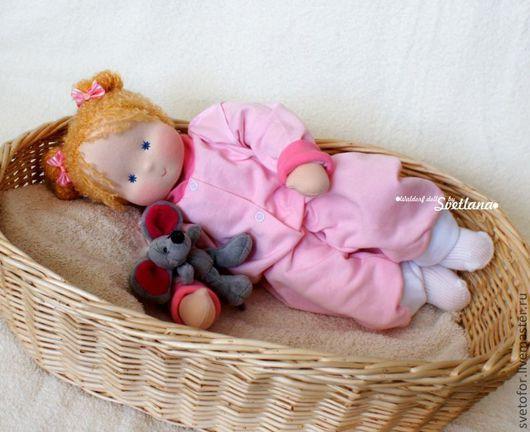 Вальдорфская игрушка ручной работы. Ярмарка Мастеров - ручная работа. Купить Малышка, 40 см. Handmade. Вальдорфская кукла, подарок