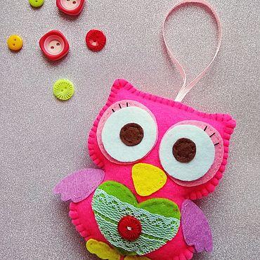 Куклы и игрушки ручной работы. Ярмарка Мастеров - ручная работа Весенняя совушка. Handmade.