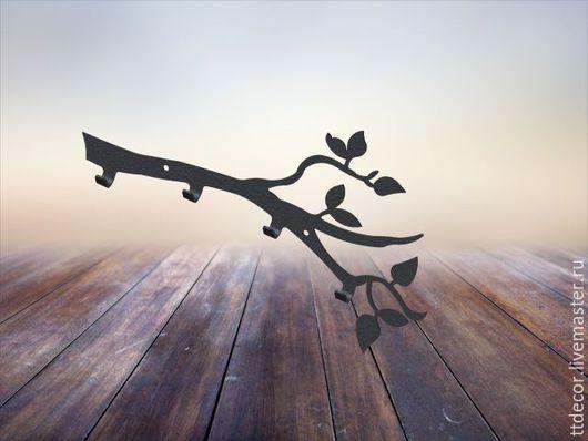 """Прихожая ручной работы. Ярмарка Мастеров - ручная работа. Купить Вешалка- ключница """"ветка"""". Handmade. Черный, Вешалка для полотенец, подарок"""