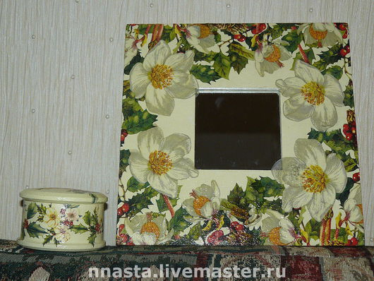 """Подарочные наборы ручной работы. Ярмарка Мастеров - ручная работа. Купить Набор подарочный """"Белые цветы"""". Handmade. Зеркало"""