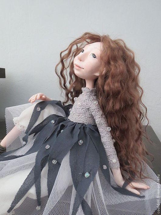 Коллекционные куклы ручной работы. Ярмарка Мастеров - ручная работа. Купить Тая (туман). Handmade. Серый, туман, проволочный каркас