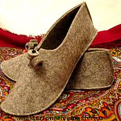 Обувь ручной работы. Ярмарка Мастеров - ручная работа Тапки домашние. Handmade.