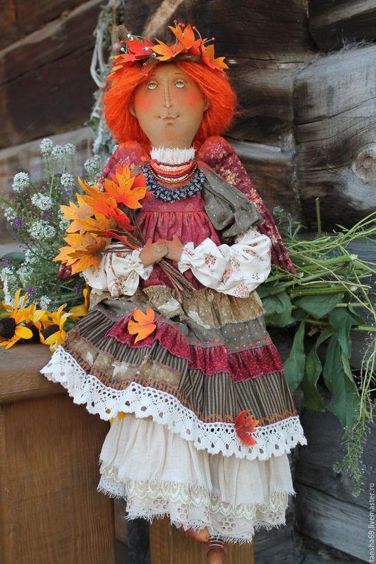 Коллекционные куклы ручной работы. Ярмарка Мастеров - ручная работа. Купить Красавица Осень. Handmade. Комбинированный, ткань