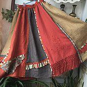 Одежда ручной работы. Ярмарка Мастеров - ручная работа Юбка бохо рыжая веселая. Handmade.