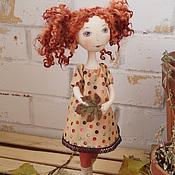 Куклы и игрушки ручной работы. Ярмарка Мастеров - ручная работа Текстильная кукла Осень - рыжая подружка:). Handmade.