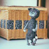 Куклы и игрушки ручной работы. Ярмарка Мастеров - ручная работа Котик с бантиком. Handmade.