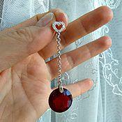 Украшения handmade. Livemaster - original item Silver earrings with red Topaz
