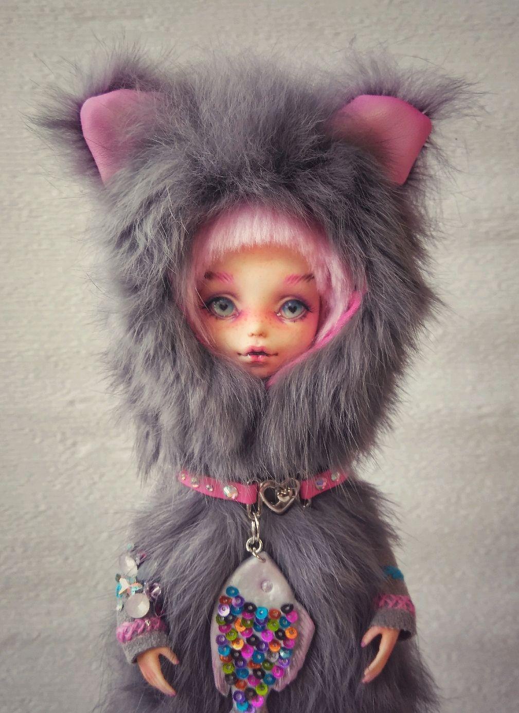 ООАК. Котёнок. Авторская шарнирная кукла, Коллекционные куклы, Комсомольск-на-Амуре, Фото №1