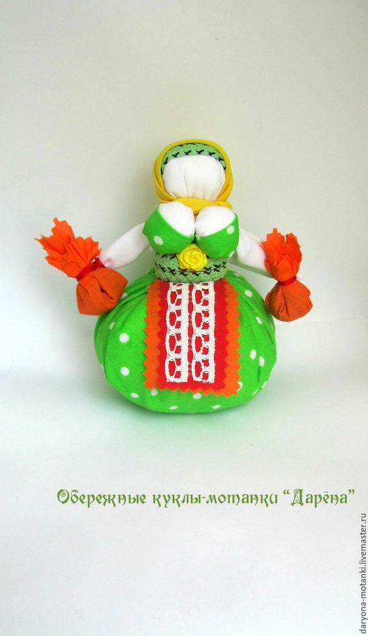 """Народные куклы ручной работы. Ярмарка Мастеров - ручная работа. Купить Кукла-мотанка """"Кубышка-травница"""". Handmade. Разноцветный, мотанка"""