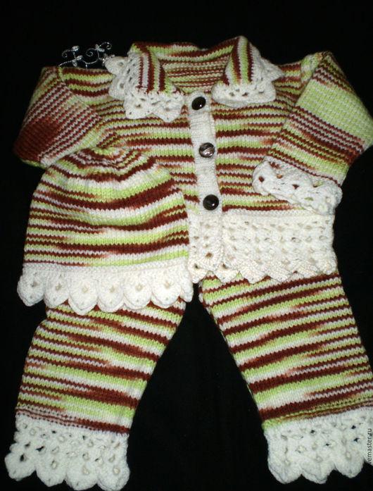 Одежда унисекс ручной работы. Ярмарка Мастеров - ручная работа. Купить Меланжевый костюм для мальчика от двух месяцев.. Handmade. Комбинированный