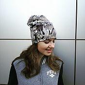 Аксессуары handmade. Livemaster - original item Beanie Zebra beanie. Handmade.