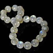 Украшения handmade. Livemaster - original item Bracelet of large rainbow moonstone beads (adulyar). Handmade.