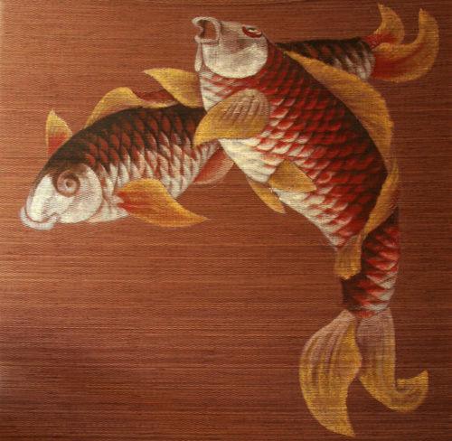 """Животные ручной работы. Ярмарка Мастеров - ручная работа. Купить Рулонная штора - панно """"Вот это рыбы!"""". Handmade. Панно, штора"""