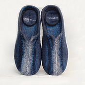 """Обувь ручной работы. Ярмарка Мастеров - ручная работа Мужские тапки """"Небесный тихоход"""" войлочные валяные. Handmade."""