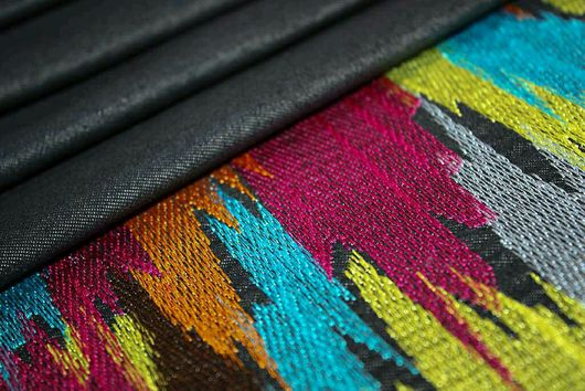 """Шитье ручной работы. Ярмарка Мастеров - ручная работа. Купить Джинс с вышивкой """"Радуга"""" ткань Италия. Handmade. Комбинированный, деним"""