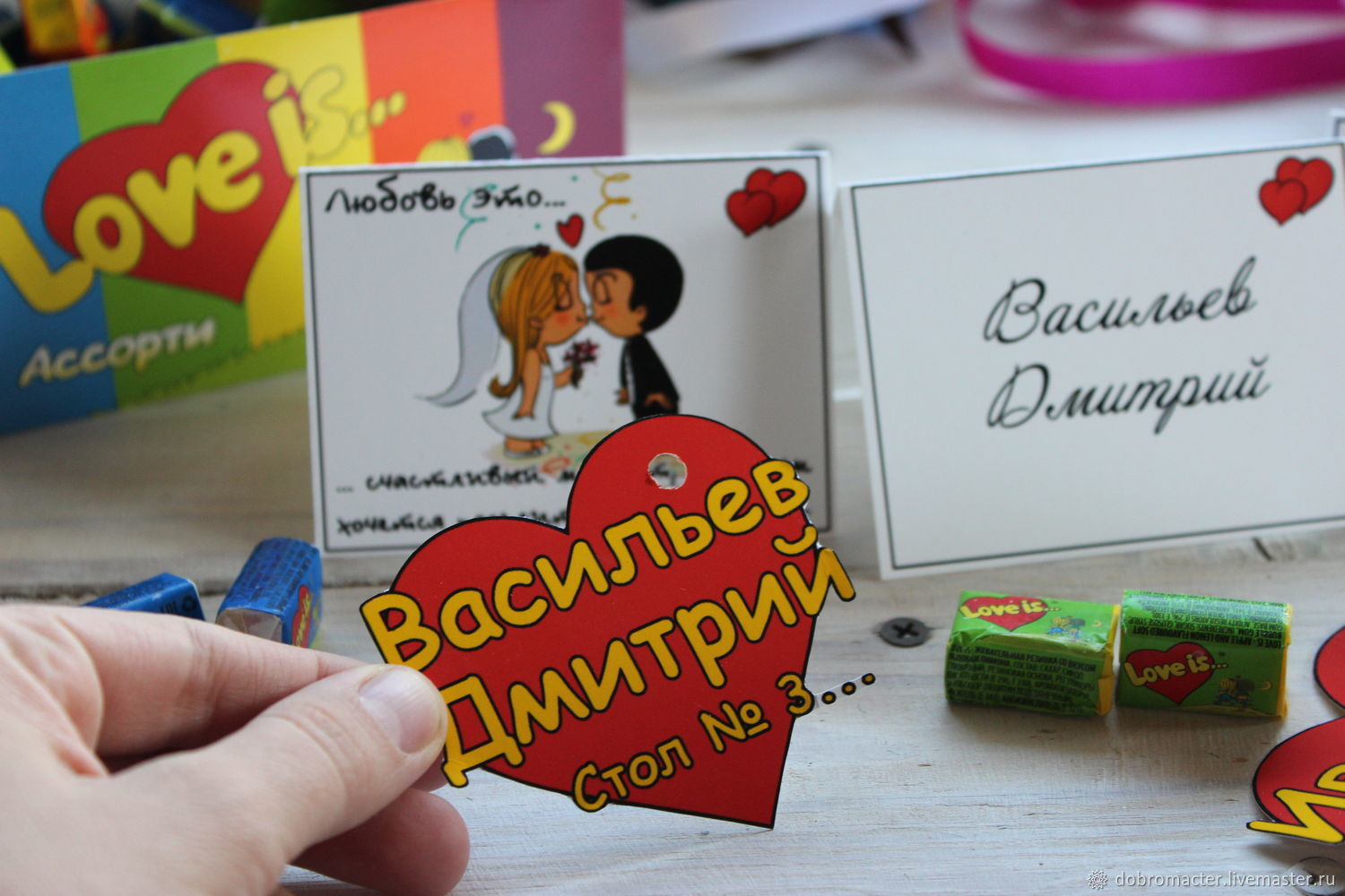 Place cards Love is, Card, Oktjabrsk,  Фото №1