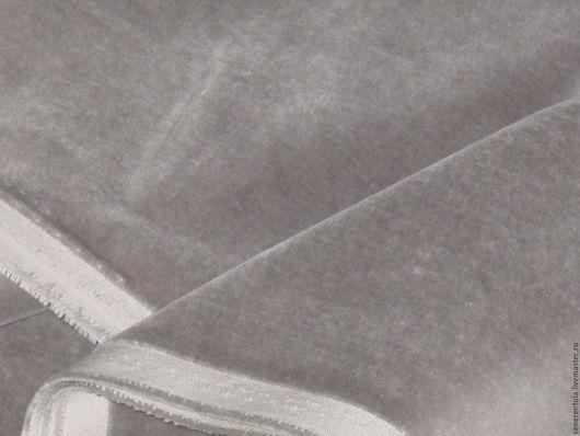 Винтажные предметы интерьера. Ярмарка Мастеров - ручная работа. Купить винтажный итальянский бархат. цвет серый.. Handmade. Серый