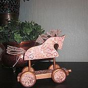 """Куклы и игрушки ручной работы. Ярмарка Мастеров - ручная работа Интерьерная игрушка лошадка """"Голди"""". Handmade."""