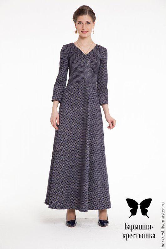 Платья ручной работы. Ярмарка Мастеров - ручная работа. Купить Палермо. Handmade. Тёмно-синий, закрытое платье, православный наряд