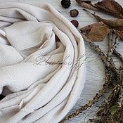 """Аксессуары handmade. Livemaster - original item Шарф женский домотканый """"Ириска"""" белый. Handmade."""