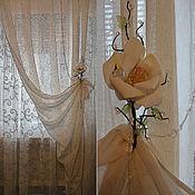 Для дома и интерьера handmade. Livemaster - original item Curtains for bedroom linen MAGNOLIA. Handmade.