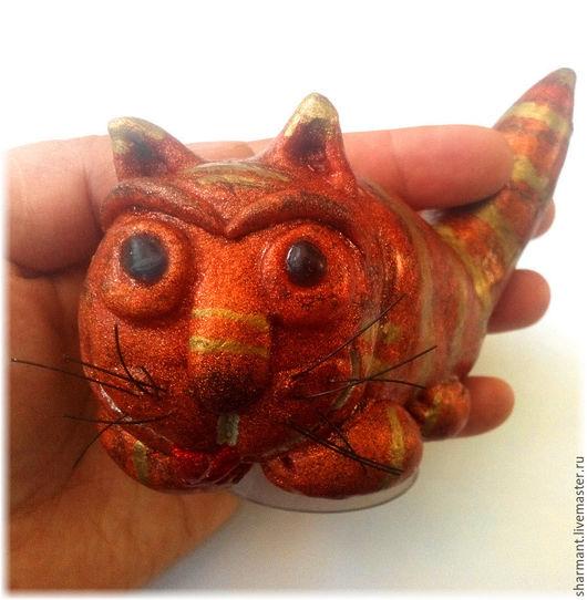 """Автомобильные ручной работы. Ярмарка Мастеров - ручная работа. Купить """"Рыжий кот"""", фигурка в салон автомобиля. Handmade. Кот"""