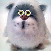 Мягкие игрушки ручной работы. Ярмарка Мастеров - ручная работа Белый кот. Handmade.