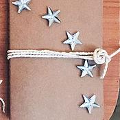 Канцелярские товары ручной работы. Ярмарка Мастеров - ручная работа Крафтовые блокноты на заказ. Handmade.