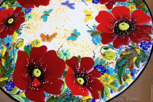 Мебель ручной работы. Ярмарка Мастеров - ручная работа. Купить столик для чайных церемоний Маковое поле. Handmade. Ярко-красный