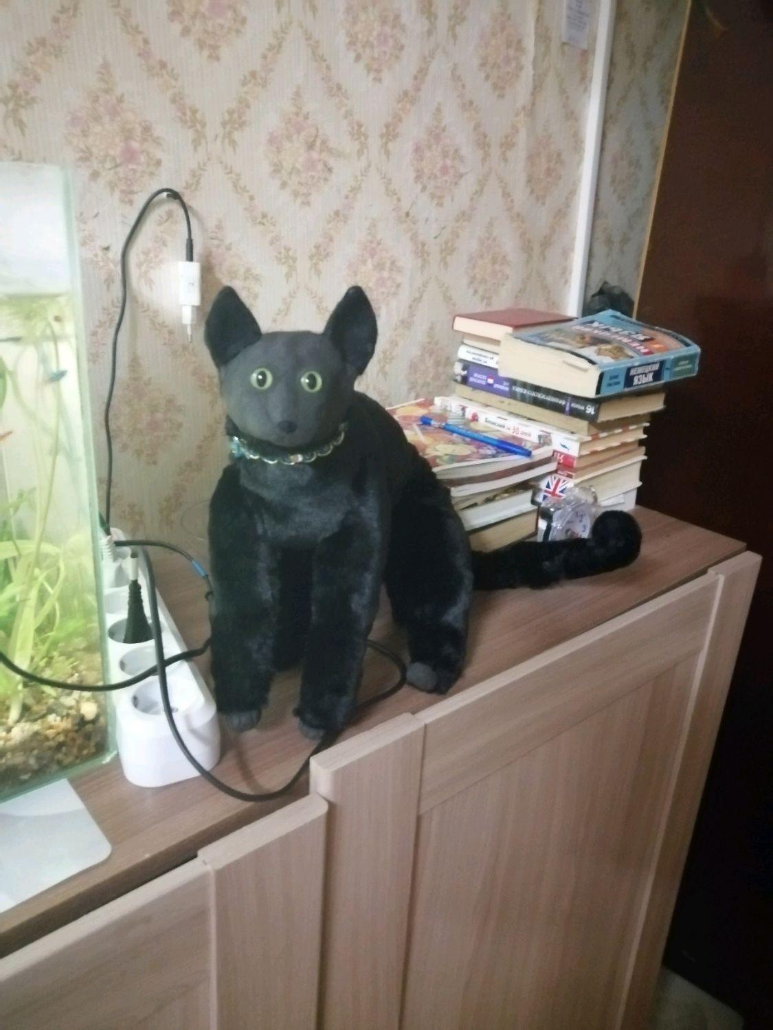 Кошка в смешанной технике, Мягкие игрушки, Богородск,  Фото №1