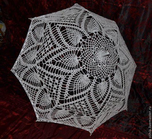 Зонты ручной работы. Ярмарка Мастеров - ручная работа. Купить Зонт вязанный. Handmade. Белый, свадьба