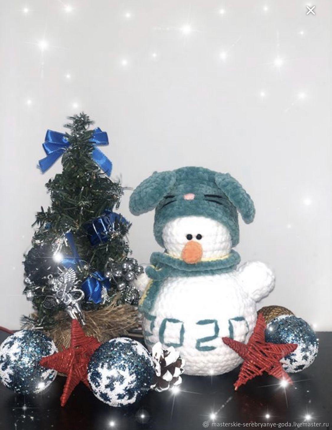 Плюшевый Снеговик, Мягкие игрушки, Одинцово,  Фото №1