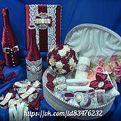 Свадебный салон ручной работы. Ярмарка Мастеров - ручная работа Набор свадебных аксессуаров МАРСАЛА. Handmade.