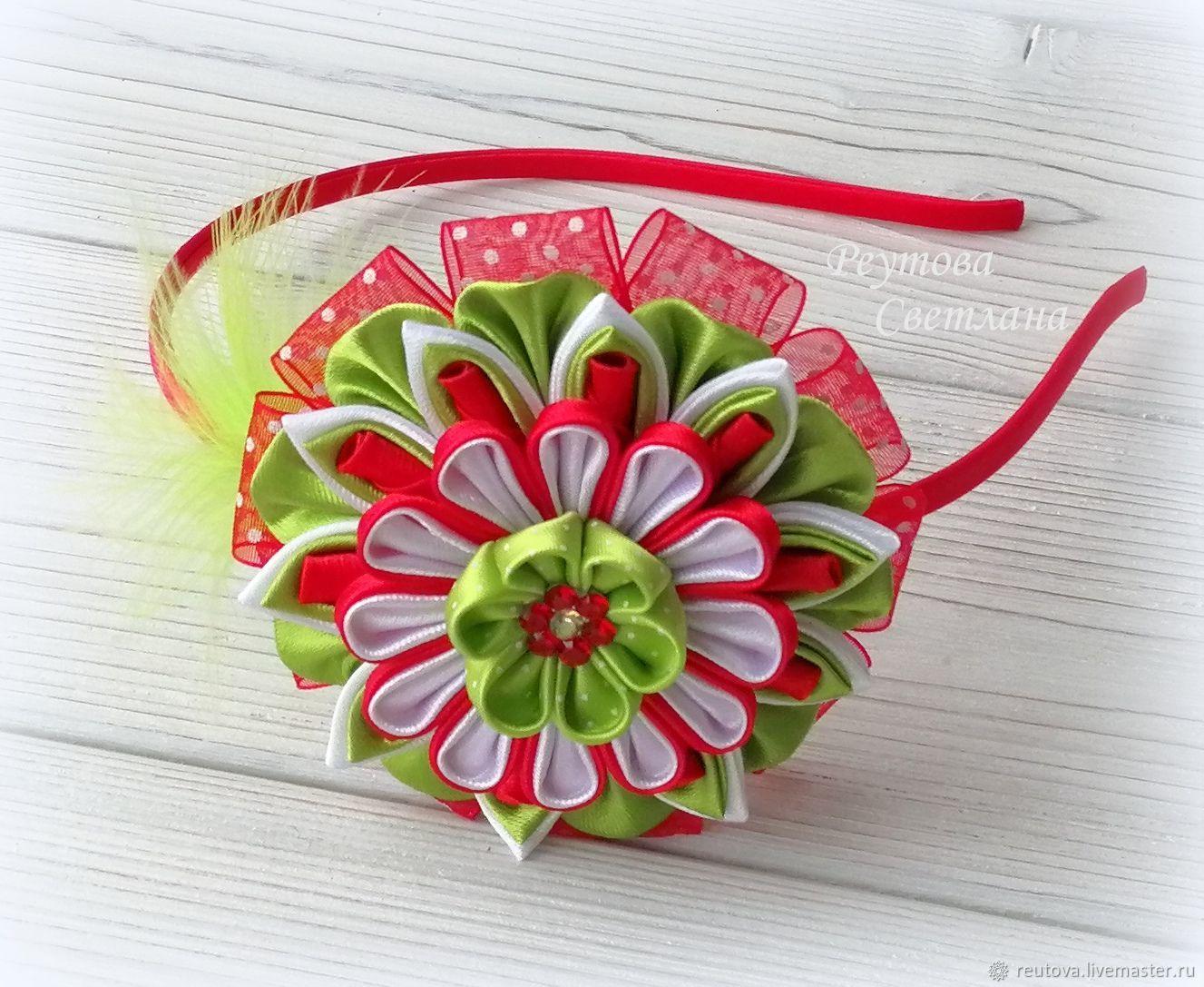 Headband hair Berry in the technique of Kanzashi, Headband, Chernogolovka,  Фото №1
