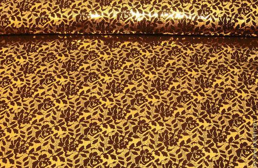 """Шитье ручной работы. Ярмарка Мастеров - ручная работа. Купить Натуральная кожа """"Розы с золотом"""".. Handmade. Коричневый, коричневая кожа"""