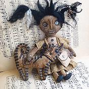 """Куклы и игрушки ручной работы. Ярмарка Мастеров - ручная работа Примитивная кукла  """"Девочка и котик"""".. Handmade."""