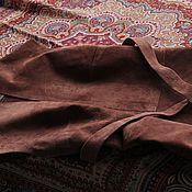 Одежда handmade. Livemaster - original item Suede dress/sundress color of milk chocolate. Handmade.