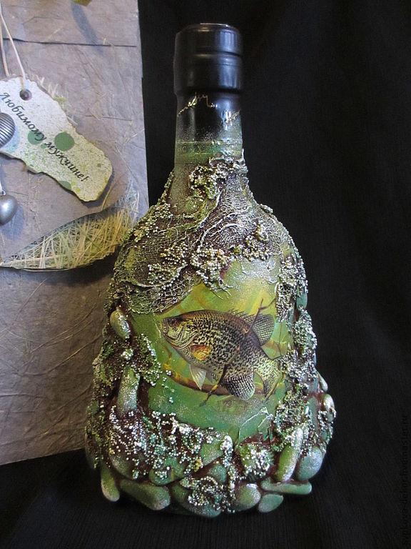 """Подарочная бутылка коньяка """"Тихая заводь"""", Оформление бутылок, Кемерово,  Фото №1"""