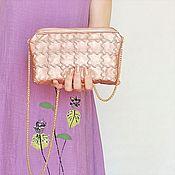 Сумки и аксессуары handmade. Livemaster - original item Small purse clutch on a chain, pink purse, (145). Handmade.