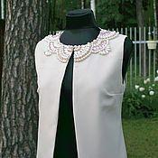 """Одежда ручной работы. Ярмарка Мастеров - ручная работа Жилетка с вышивкой """"Зефир"""". Handmade."""