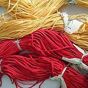 Материалы для творчества ручной работы. Ярмарка Мастеров - ручная работа Сутаж красный ,желтый. Handmade.