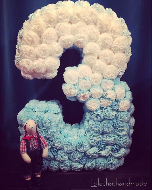 Дизайн интерьеров ручной работы. Ярмарка Мастеров - ручная работа. Купить Цифра из цветов. Handmade. Цифра из цветов, цифра для фотосессии
