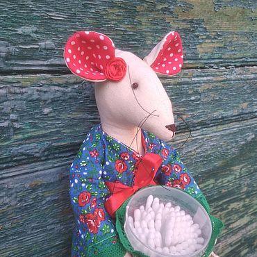 Для дома и интерьера ручной работы. Ярмарка Мастеров - ручная работа Крыска-хранительница ватных дисков и палочек. Handmade.