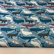 Материалы для творчества handmade. Livemaster - original item Duspo print, Sea inhabitants, 100% p / e, W. .145, 110g/m2, Russia. Handmade.