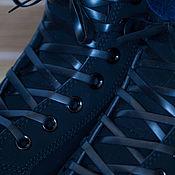 Пояса ручной работы. Ярмарка Мастеров - ручная работа Черные плоские силиконовые шнурки. Handmade.