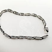 Украшения handmade. Livemaster - original item Men`s silver bracelet, cast, with small links. Handmade.