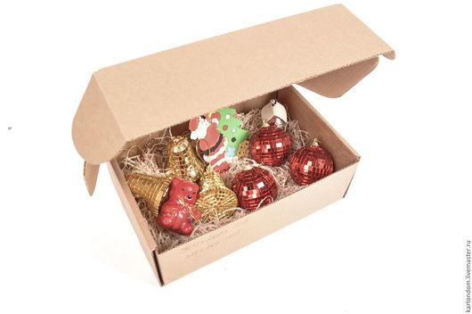 Корзины, коробы ручной работы. Ярмарка Мастеров - ручная работа. Купить Коробка для елочных игрушек 35х25х10 см. Handmade. Коробка