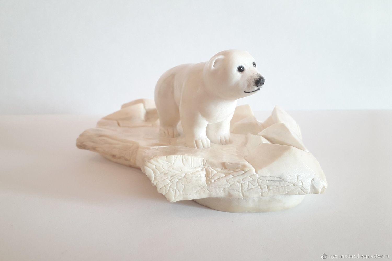 Umka. Polar bear on an ice floe, Figurines, Ekaterinburg,  Фото №1