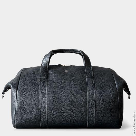 """Мужские сумки ручной работы. Ярмарка Мастеров - ручная работа. Купить Сумка """"Holdall"""". Handmade. Черный, натуральная кожа"""