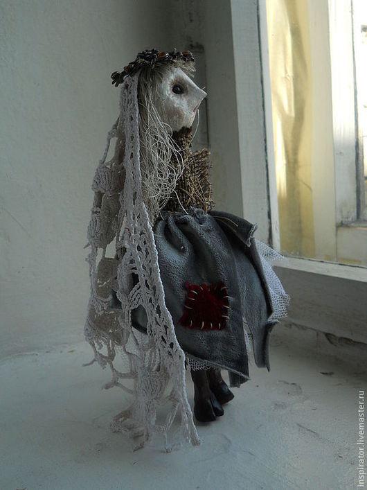 Коллекционные куклы ручной работы. Ярмарка Мастеров - ручная работа. Купить Гретхен забытая - недотыкомка вторая добрая. Handmade. Серый